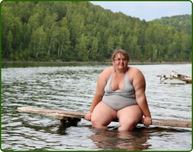 Obézní žena
